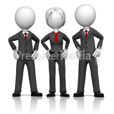 Three Business Executives Presentation clipart