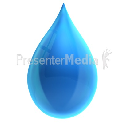 Single Water Drop Presentation clipart