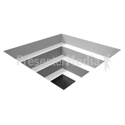 Square Hole Illusion Presentation clipart