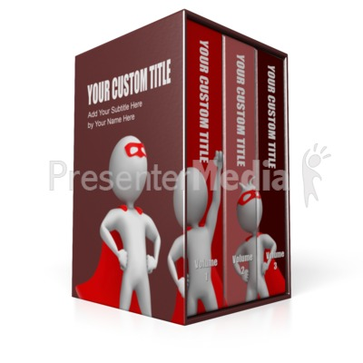 Three Volume Set Presentation clipart