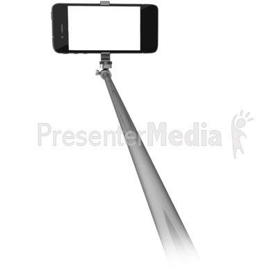 Phone On Selfie Stick Presentation clipart