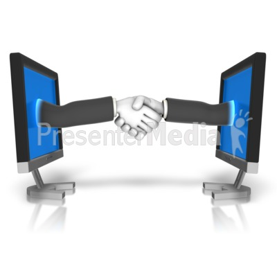 Business Meeting Online Presentation clipart