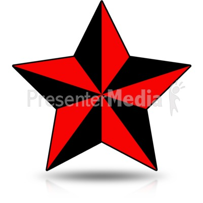 Precise Nautical Star Presentation clipart