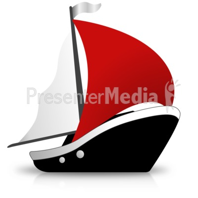 Simple Ship Sailing Presentation clipart
