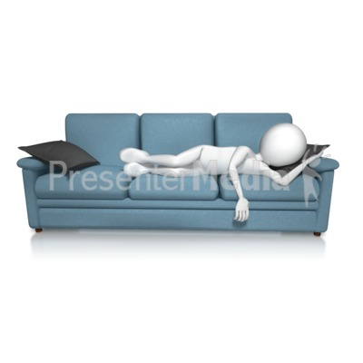 Crashed On Couch Presentation clipart
