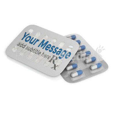 Custom Pill Pack Presentation clipart