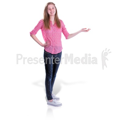 Teen Girl Gesture Side Presentation clipart