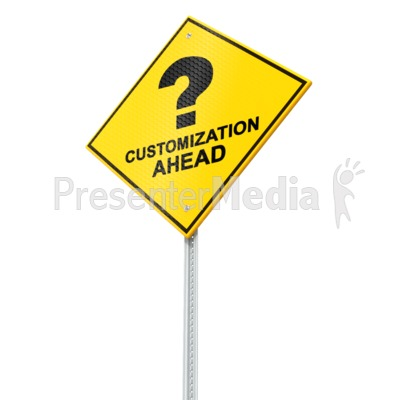 Caution Street Sign Presentation clipart