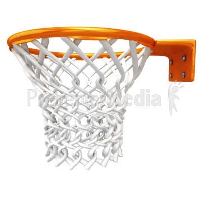 Basketball Rim Net Presentation clipart