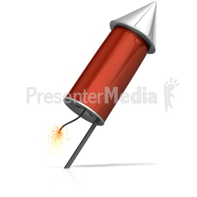 Rocket Ready To Launch Presentation clipart