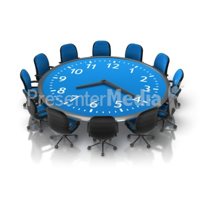 Meeting Time Table Presentation clipart