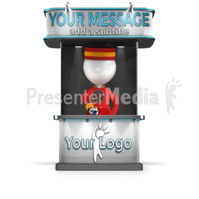 Custom Ticket Booth Presentation clipart
