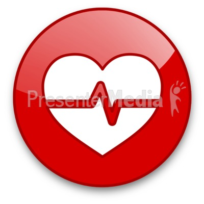 Heartbeat Wave Button Presentation clipart