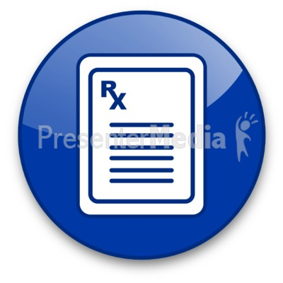 Prescription Pad with Rx Symbol Button Presentation clipart