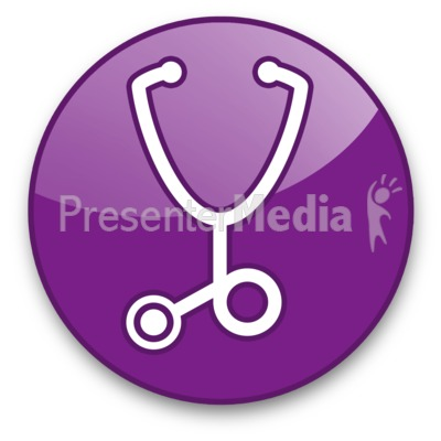 Stethoscope Button Presentation clipart