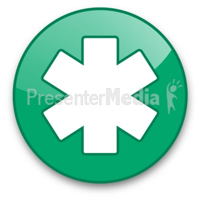 Star of Life Button Presentation clipart