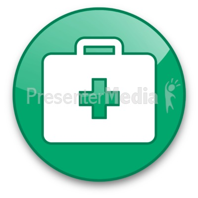 Medical Briefcase Button Presentation clipart