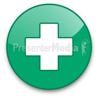 Medical Cross Button Presentation clipart