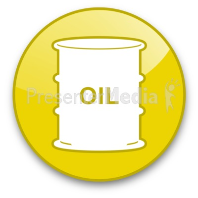 Oil Barrel Button Presentation clipart