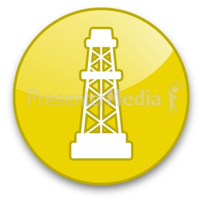 Oil Rig Button Presentation clipart