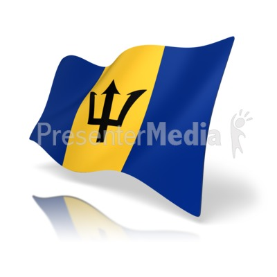 Barbados Flag Presentation clipart