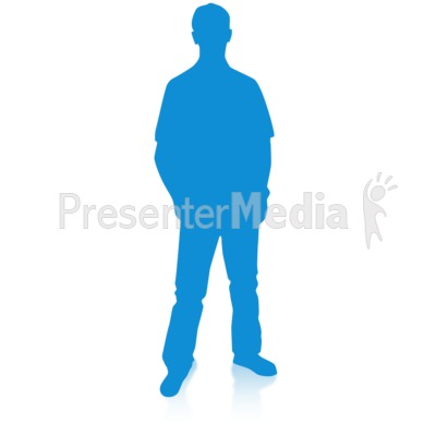 Man Silhouette Single Pose Presentation clipart