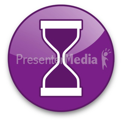 Hourglass Button Presentation clipart