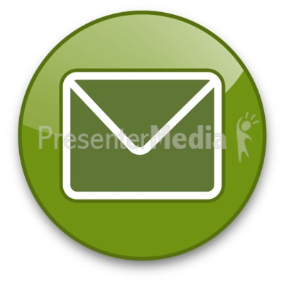 Envelope Button Presentation clipart