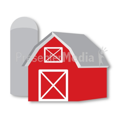 Barn and Silo Presentation clipart