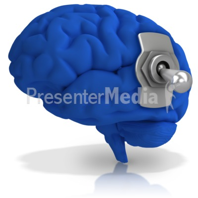 Brain Switched Off Presentation clipart