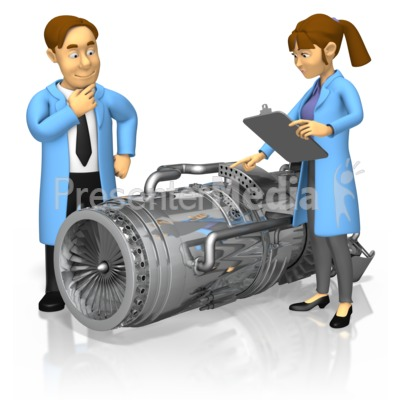 Engineers Turbine Engine Presentation clipart