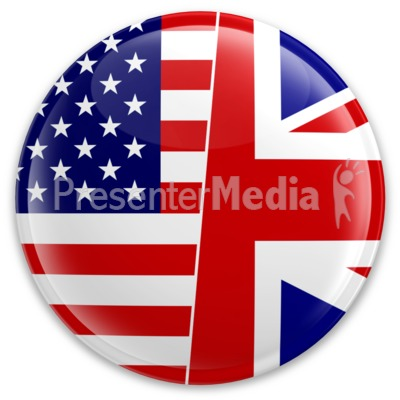 Us Uk Flag Button Presentation clipart