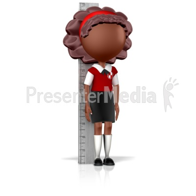 Girl School Child Measuring Up Presentation clipart