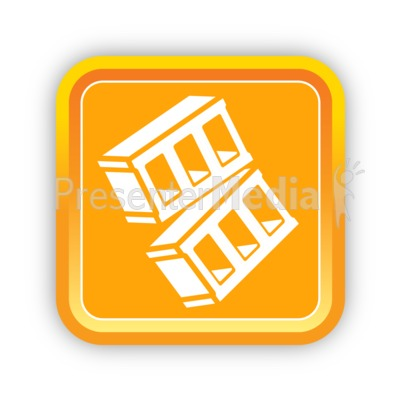 Construction Bricks One Presentation clipart