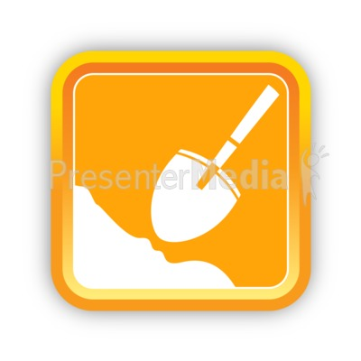 Construction Shovel Presentation clipart