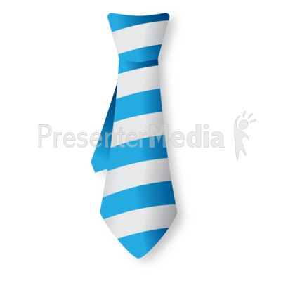 Striped Tie Presentation clipart