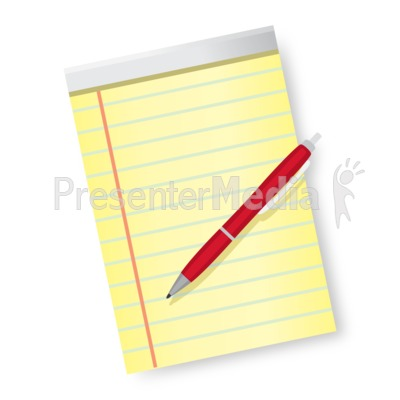 Pen and Paper Presentation clipart