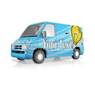 Custom Wrapped Van Presentation clipart