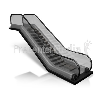Escalator Diagonal View Presentation clipart