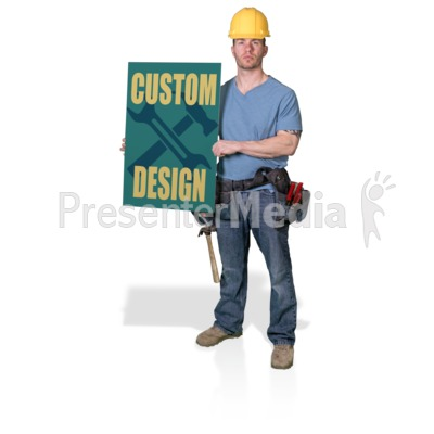 Construction Hold Sign Presentation clipart