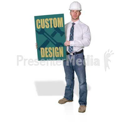 Foreman Hold Sign Presentation clipart