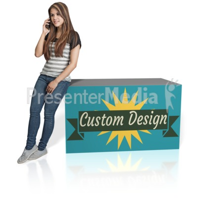 Young Girl Lean Custom Presentation clipart
