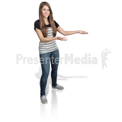 Young Girl Presenting Right Presentation clipart