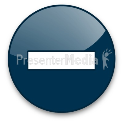 Minus Sign Button Presentation clipart