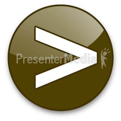 Greater Than Sign Button Presentation clipart