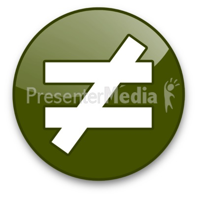 Not Equals Sign Button Signs And Symbols Great Clipart For