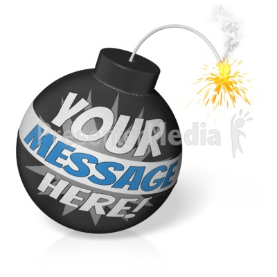 Custom Cartoon Bomb Presentation clipart
