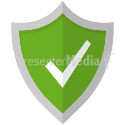Check Mark Shield Presentation clipart