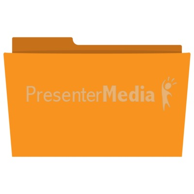 Flat Folder Presentation clipart