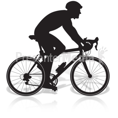 Bicycle Man Riding Presentation clipart
